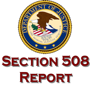 DOJ 2012 Section 508 Report